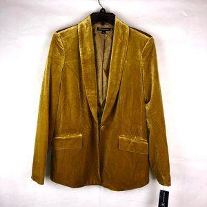 INC International Concepts Velvet Gold Blazer S